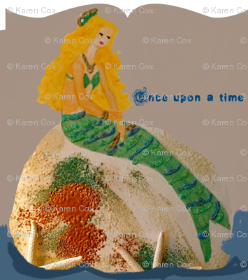 Mermaid Once upon a time with text