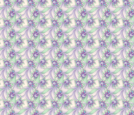 Fantasy Flowers 1 fabric by findevogel on Spoonflower - custom fabric