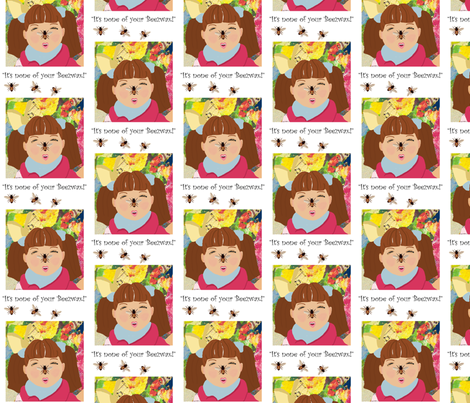 It's None of your Beezwax fabric by karenharveycox on Spoonflower - custom fabric