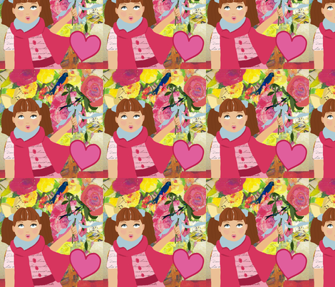 Tilly Valentine fabric by karenharveycox on Spoonflower - custom fabric