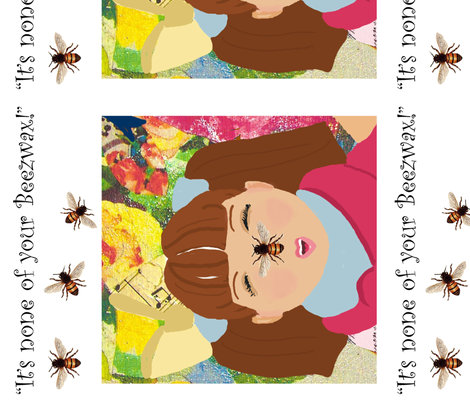 It's None of your Beezwax-ed fabric by karenharveycox on Spoonflower - custom fabric