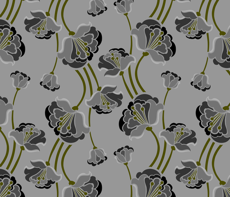 Betty Flora fabric by renule on Spoonflower - custom fabric