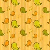 Série de Mésanges - Orange/Vert