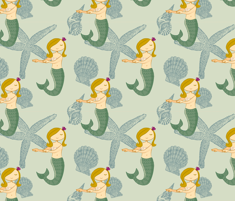 Sweet Lorelei fabric by jenimp on Spoonflower - custom fabric