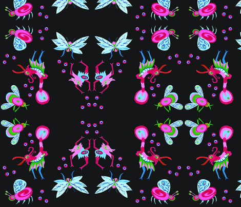 French Beasts fabric by julietwayne on Spoonflower - custom fabric