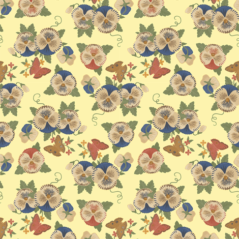 Violas 1a fabric by muhlenkott on Spoonflower - custom fabric