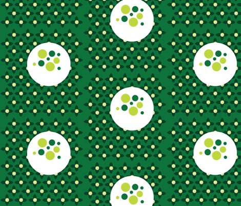 Florbs Emerald  fabric by dolphinandcondor on Spoonflower - custom fabric