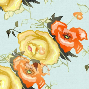 Vintage_China-_Poppy_n_Rose_with_Blue