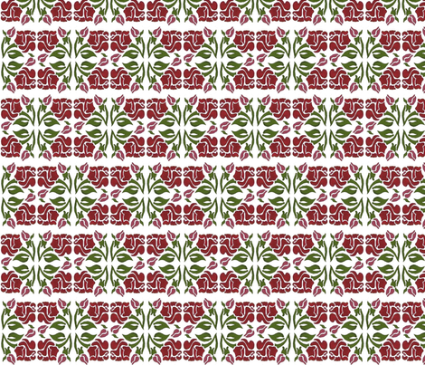 Rosie Nouveau fabric by kdl on Spoonflower - custom fabric