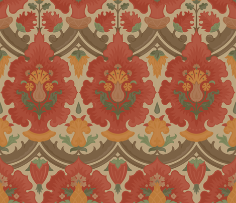 Damask 7b fabric by muhlenkott on Spoonflower - custom fabric