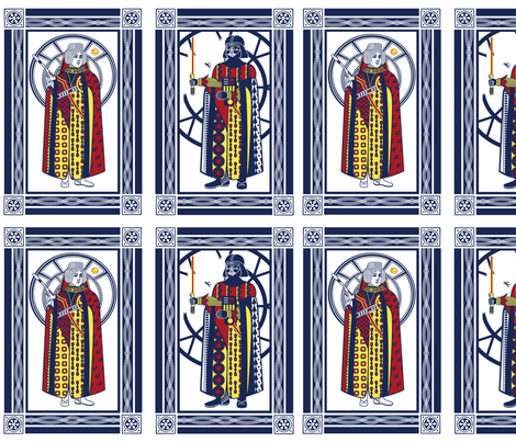 playing cards fabric by thirdhalfstudios on Spoonflower - custom fabric