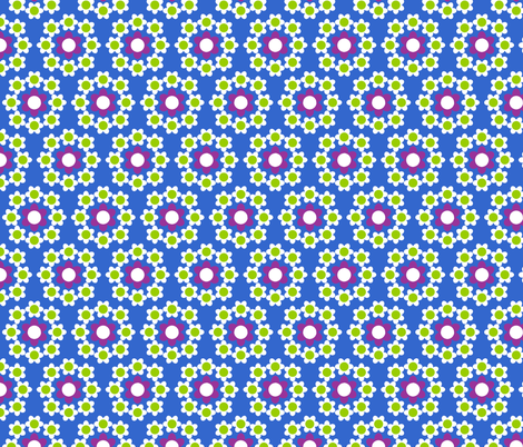 Daisy_Chain_Blue fabric by aliceapple on Spoonflower - custom fabric