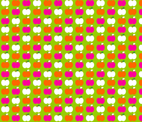Apple_Trio_Green fabric by aliceapple on Spoonflower - custom fabric