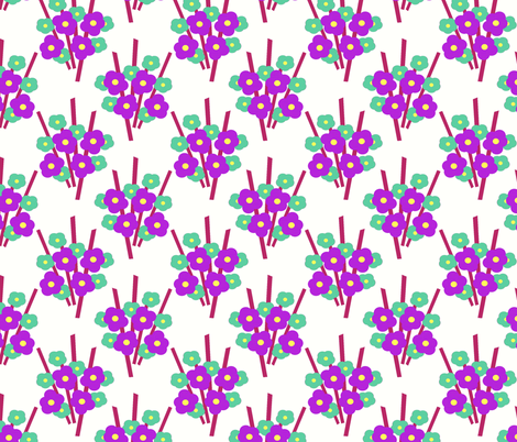 Bouquet fabric by kdl on Spoonflower - custom fabric