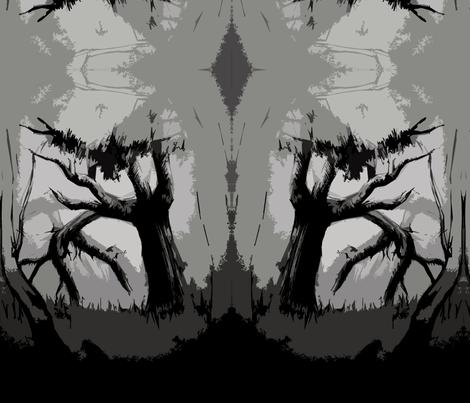 fiona_landscape_dangars_falls_cutout_dark fabric by granny_fi on Spoonflower - custom fabric