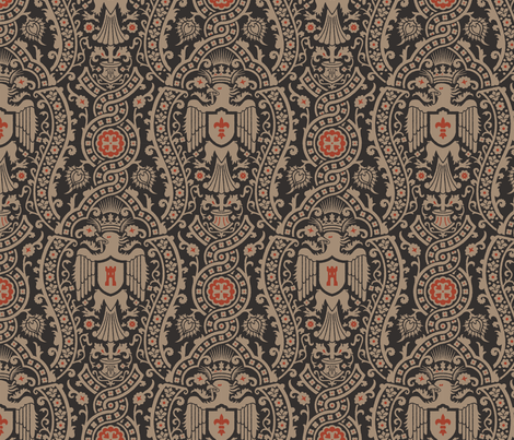 Damask 3 Alternate a fabric by muhlenkott on Spoonflower - custom fabric