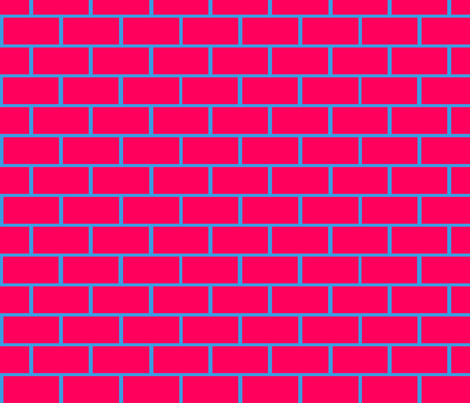 Gluekit: Red Bricks fabric by gluekit on Spoonflower - custom fabric