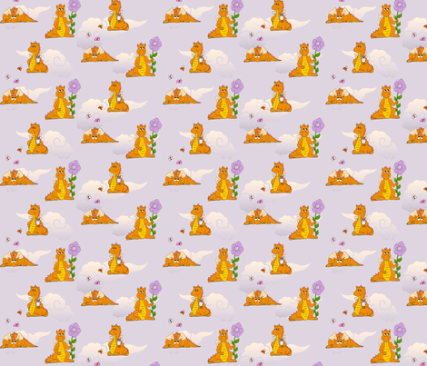 OrangeDragons8in fabric by thelazygiraffe on Spoonflower - custom fabric