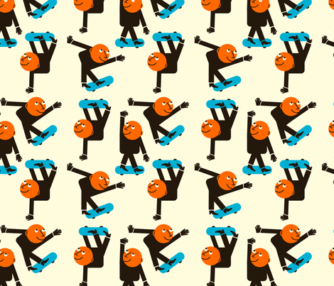 Gluekit: Skaters fabric by gluekit on Spoonflower - custom fabric