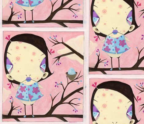 Birdie fabric by paul_moschell on Spoonflower - custom fabric