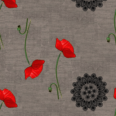 Poppy fabric by nalo_hopkinson on Spoonflower - custom fabric