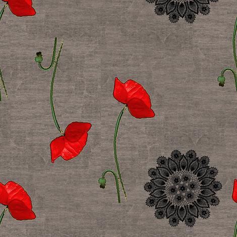 Poppy fabric by nalo_hopkinson on Spoonflower - custom fabric