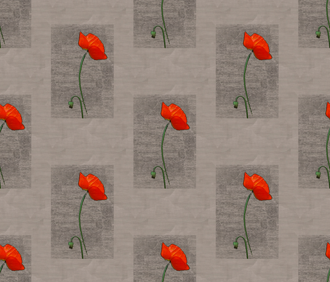 Fenced-in Poppy fabric by nalo_hopkinson on Spoonflower - custom fabric