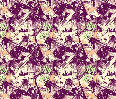 Eggplant Eva fabric by tinet on Spoonflower - custom fabric