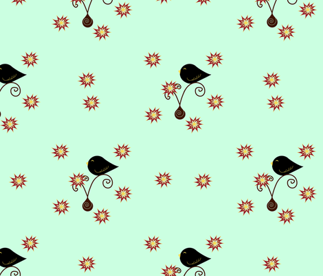 Little Black Birds fabric by geemarie on Spoonflower - custom fabric
