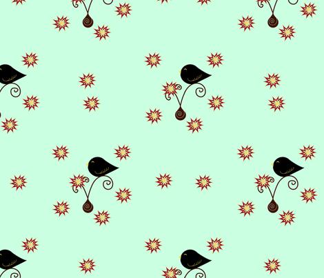 Little Black Birds fabric by geemarie on Spoonflower - custom fabric