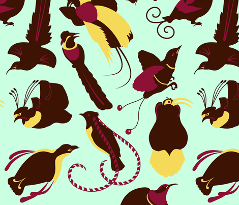 birds of paradise fabric by thirdhalfstudios on Spoonflower - custom fabric