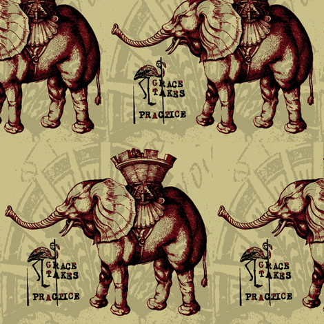 Elephantine Grace fabric by nalo_hopkinson on Spoonflower - custom fabric