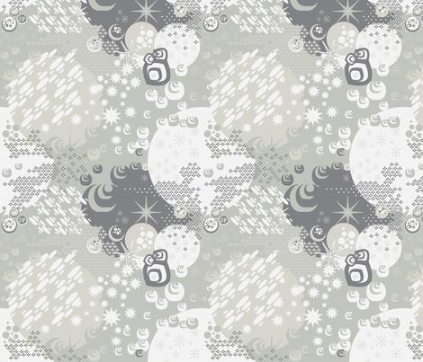 Macrocosm in Fog fabric by dolphinandcondor on Spoonflower - custom fabric