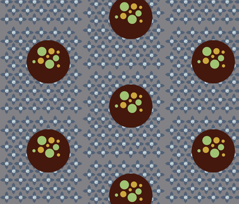 Florbs Grey fabric by dolphinandcondor on Spoonflower - custom fabric