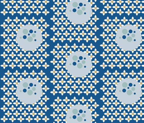Florbs Blue fabric by dolphinandcondor on Spoonflower - custom fabric