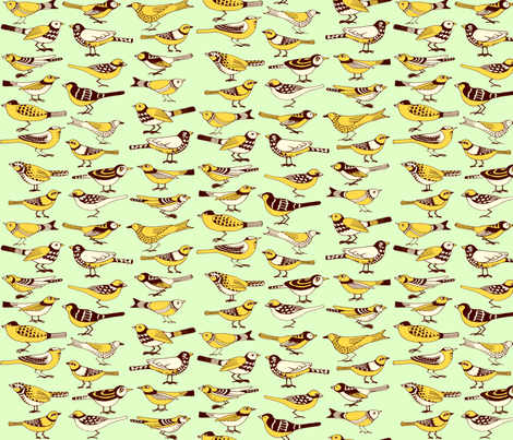 Jone's Yellow Birds fabric by jone on Spoonflower - custom fabric