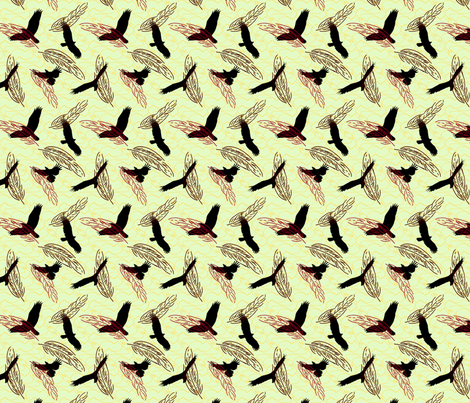 Birds of a Feather fabric by leora_the_sane on Spoonflower - custom fabric
