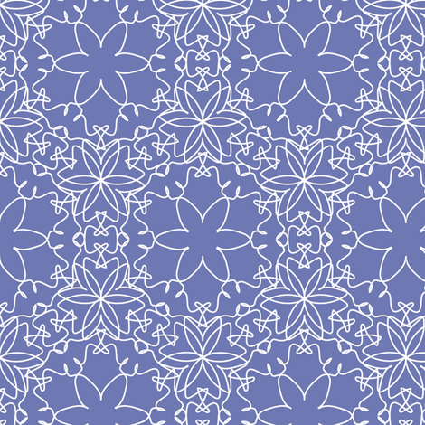 Delicate Floral - Periwinkle fabric by strive on Spoonflower - custom fabric