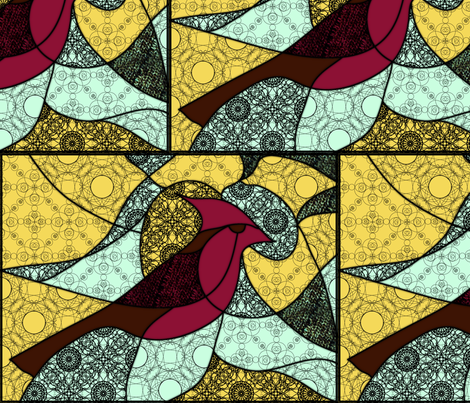 Cardinal fabric by aimeeelisabeth on Spoonflower - custom fabric