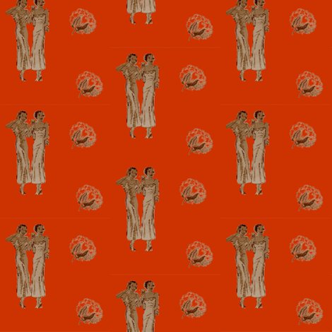Blues Ladies-Orange-140 fabric by kkitwana on Spoonflower - custom fabric