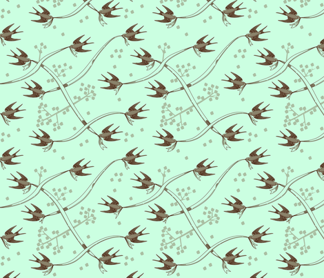 Swalloweave fabric by jenimp on Spoonflower - custom fabric