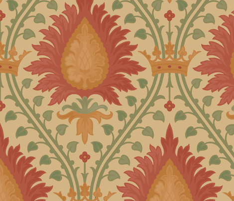 Damask 2b fabric by muhlenkott on Spoonflower - custom fabric