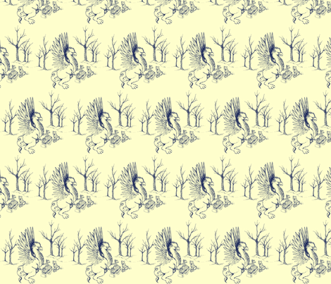 two scholars meet fabric by zomo on Spoonflower - custom fabric