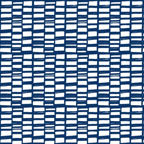 bricks blue fabric by lola_designs on Spoonflower - custom fabric