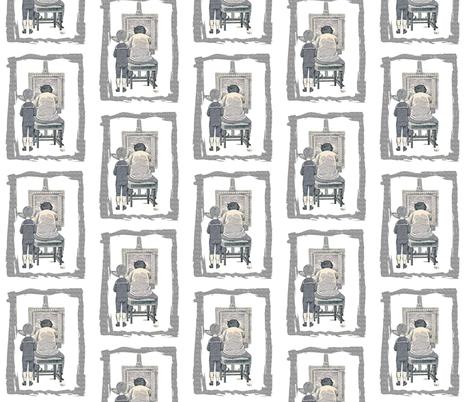 The Artist fabric by karenharveycox on Spoonflower - custom fabric