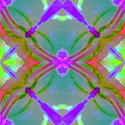 Watercoloured tiles