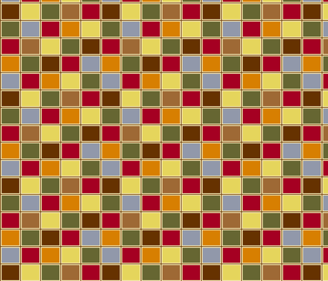 Multi-colored squares fabric by cutiepoops on Spoonflower - custom fabric