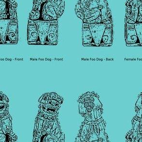 Vintage Foo Dogs