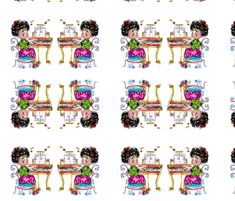 Musical Amanda  , LA LA LA, by Rosanna Hope fabric by rosannahope on Spoonflower - custom fabric