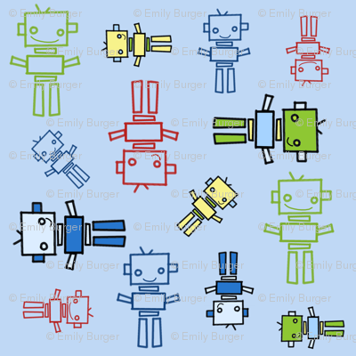 fabric_robots_blue_background